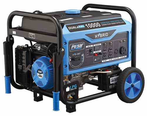 Pulsar Dual Fuel Switch & Go Technology Generator