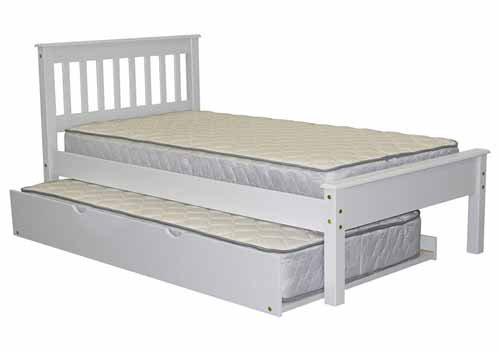 Bedz King Mission Style Twin Trundle Bed