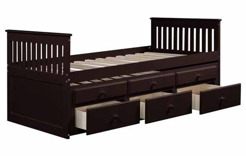 Merax Captain's Bed with Trundle